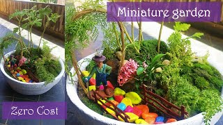 This video demonstrate creation of a zero cost miniature garden or fairy garden or miniature landscape. This is a grate kids activity / craft at home during this stay ...