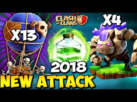 Golem + Balloon: GOBALLOON NEW TH9 STRONG WAR ATTACK STRATEGY 2018 | Clash of Clans