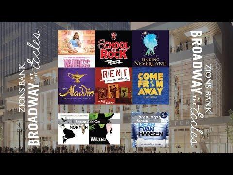 Broadway At The Eccles Season Breakdown