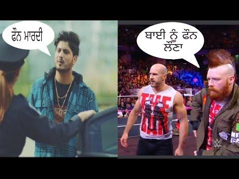 Phone Mardi   Gurnam Bhullar   Wwe Funny Video