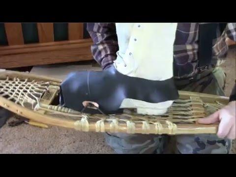 Make Snowshoe Bindings From Tire Innertube