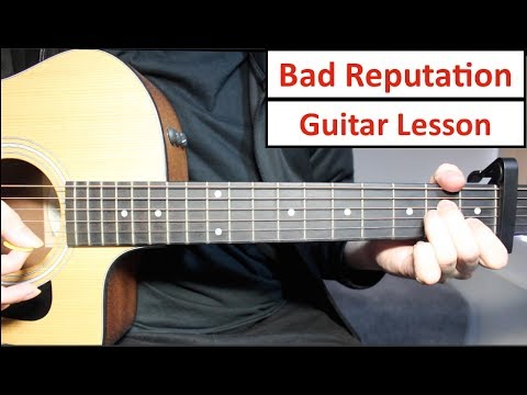 Shawn Mendes - Bad Reputation | Guitar Lesson (Tutorial) How to play Chords