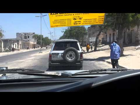 A car trip on Somalia Streets