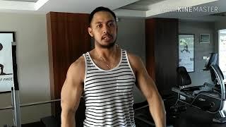 Badan Otot , Body Contest Harry Pumping Muscle