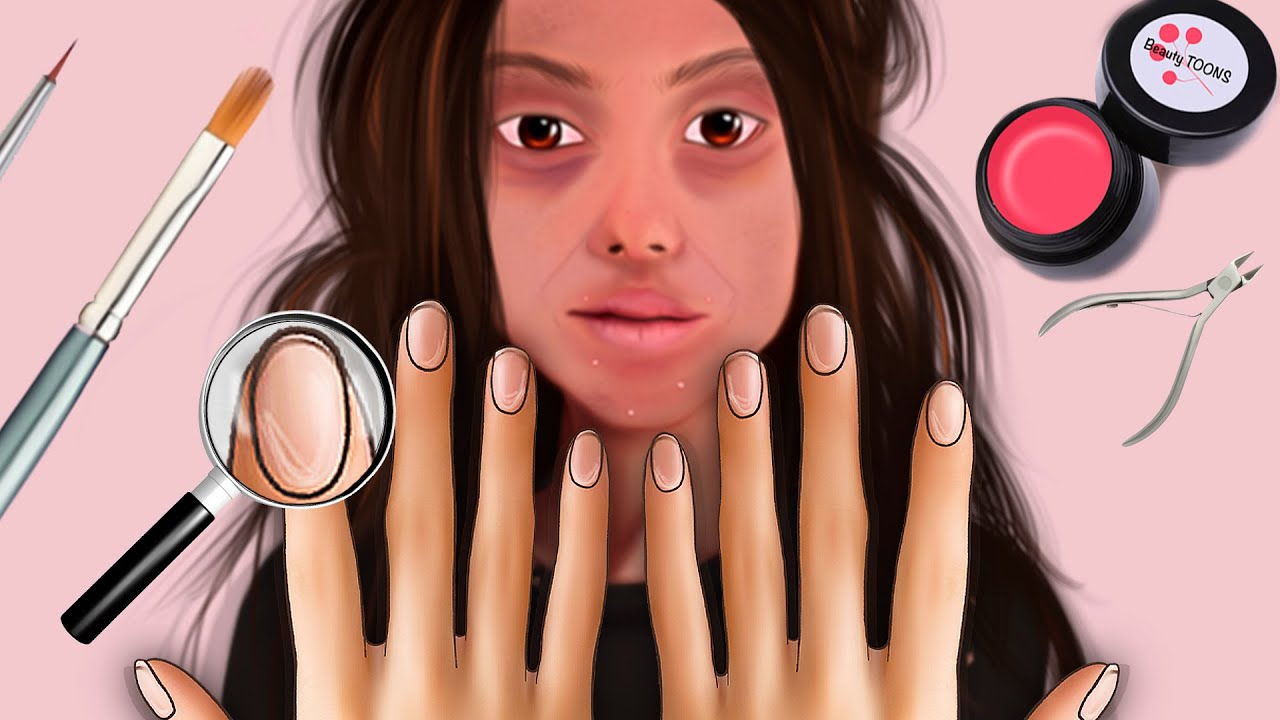 [ASMR/ Stop Motion] Manicure for a Homeless woman/ transformation animation