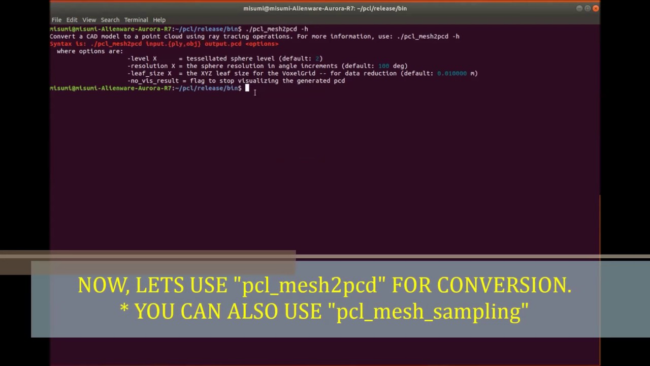 Conversion of CAD Model Using Point Cloud Library