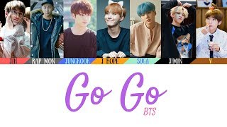 BTS 방탄소년단 Go Go 고민보다 Go Lyrics Color Coded Lyrics Han Rom Eng Official Audio