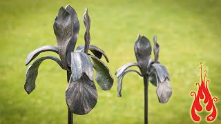 Blacksmithing Making an iris flower