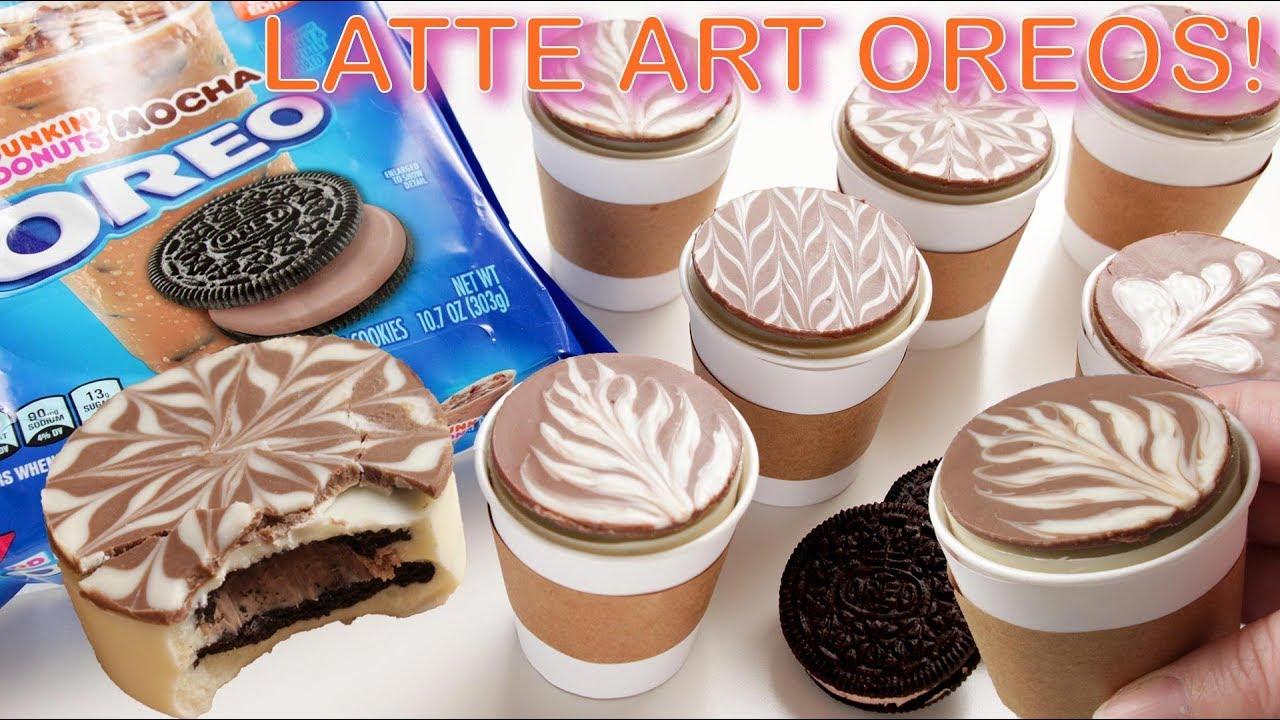 Latte Art Mocha Oreos Youtube