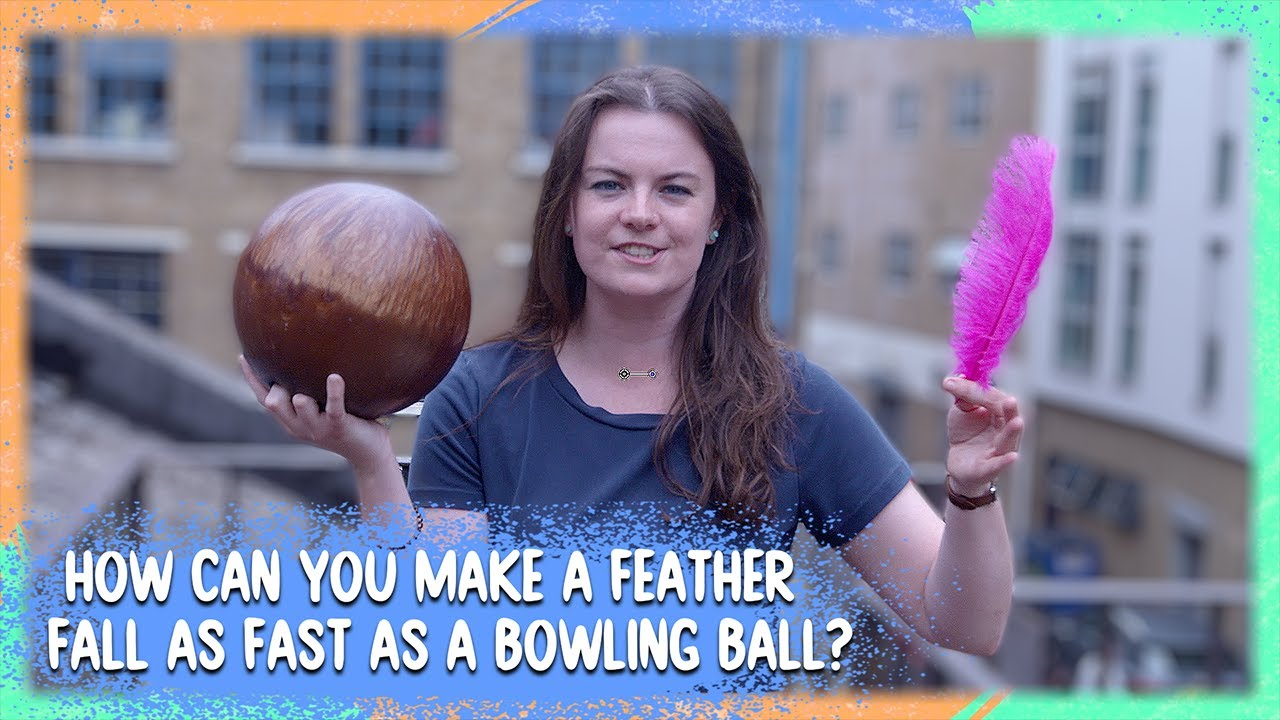Which Is Quicker: Bowling Ball or Feather!? | Get On It | BBC Earth Kids