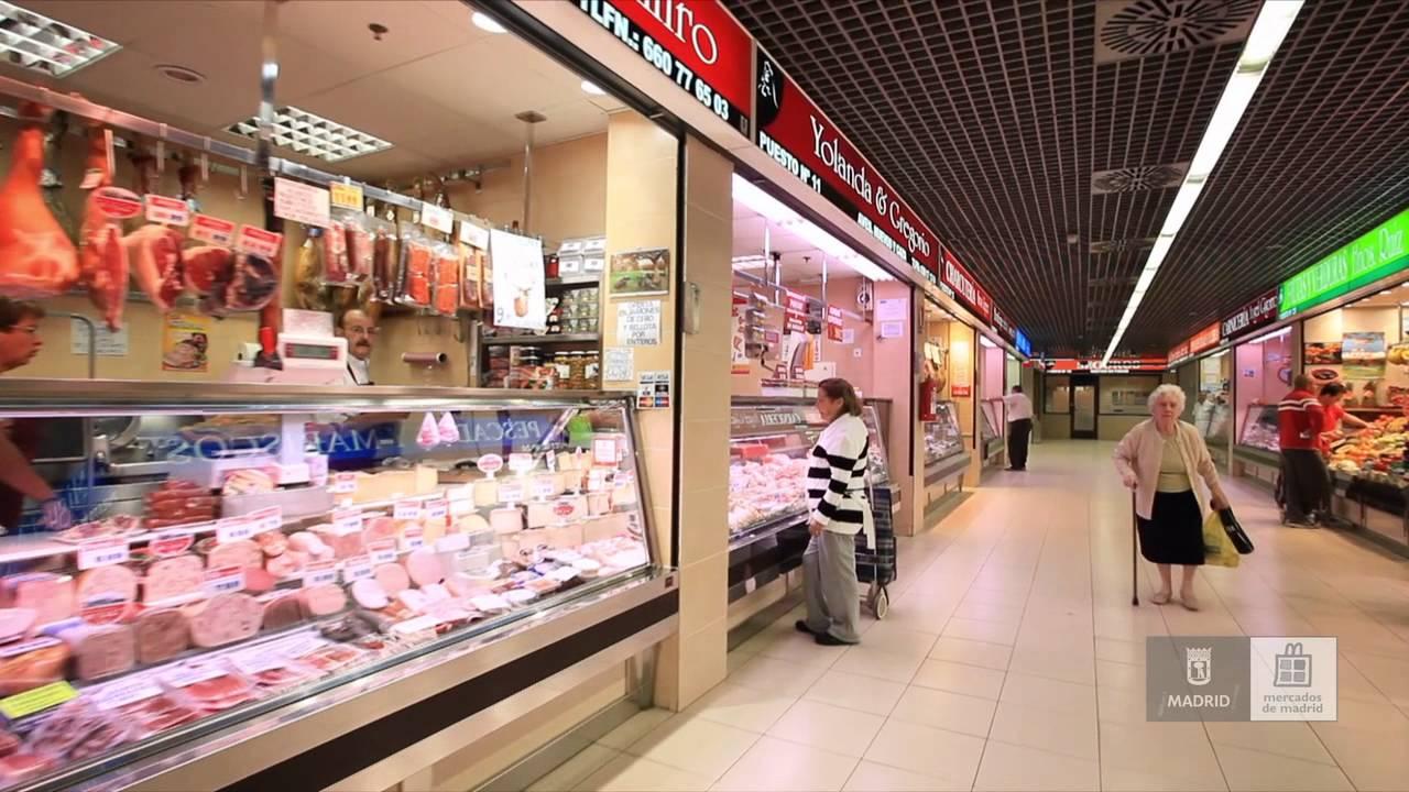 Mercados de madrid mercado de orcasitas youtube - Carniceria en madrid ...