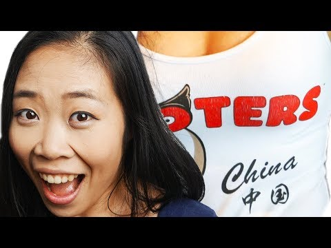 Chinese Girl Tries HOOTERS For the First Time