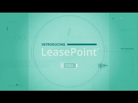 LeasePoint – A new view of lease management and lease accounting