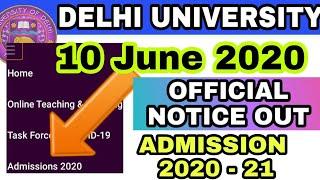 Official - Delhi University Admission Form 2020   Delhi University 2020   How To Fill DU Form 2020