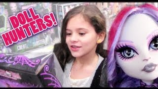 KITTIESMAMA, DOLL HUNTERS! | Hunting for Monster High Catrine DeMew, Werecat Fearleaders, & Duece!