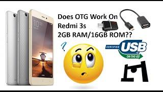 OTG Support Test On Redmi 3S 2GB RAM/ 16GB ROM Variant | 2016