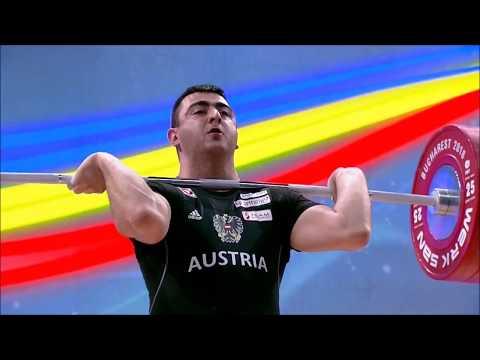 Sargis Martirosjan - 2018 EM BRONZE im Zweikampf mit 384 kg (182, 202)