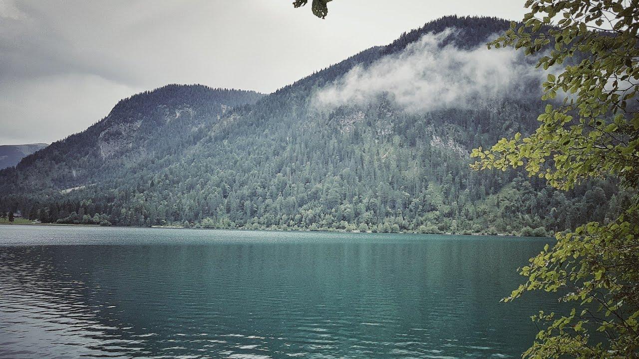 Озеро Горы Отдых в Германии  с друзьями