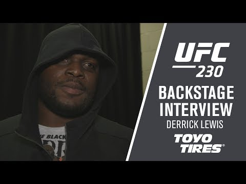 "UFC 230: Derrick Lewis - ""It's Back to The Drawing Board"""
