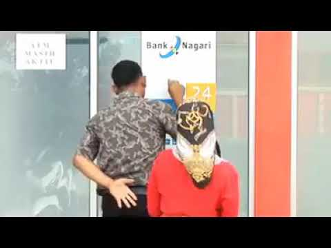 orang kampung ke ATM lucu....
