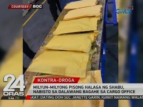 Milyun-milyong pisong halaga ng shabu, nabista sa dalawang bagahe sa cargo office