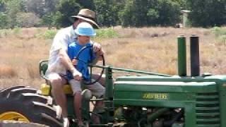 Matt on the tractor in Kingaroy