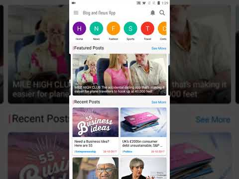 Sample Video of Blog and News app for WordPress Site