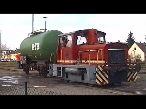 Rangierarbeiten im Güterbahnhof Neu Isenburg (Stadt) 1998