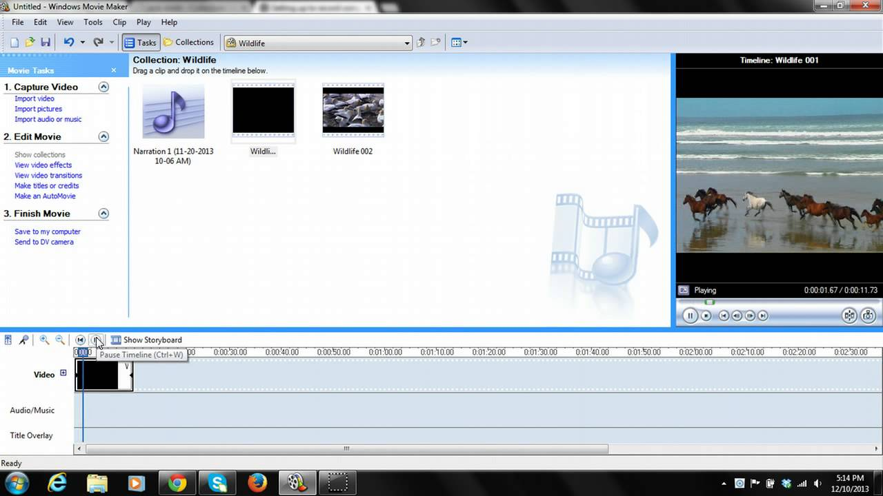 how to mute video volume in windows movie maker 26 youtube