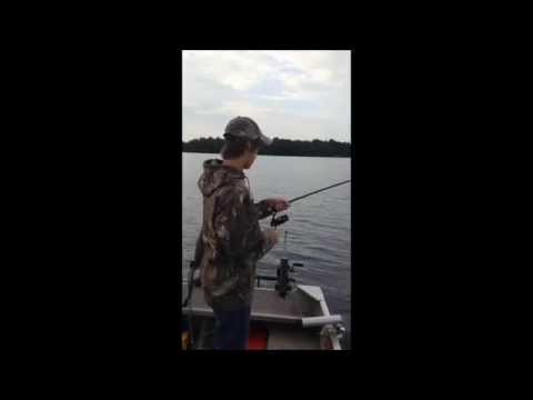 14lbs lake trout caught and released on Big Rideau Lake