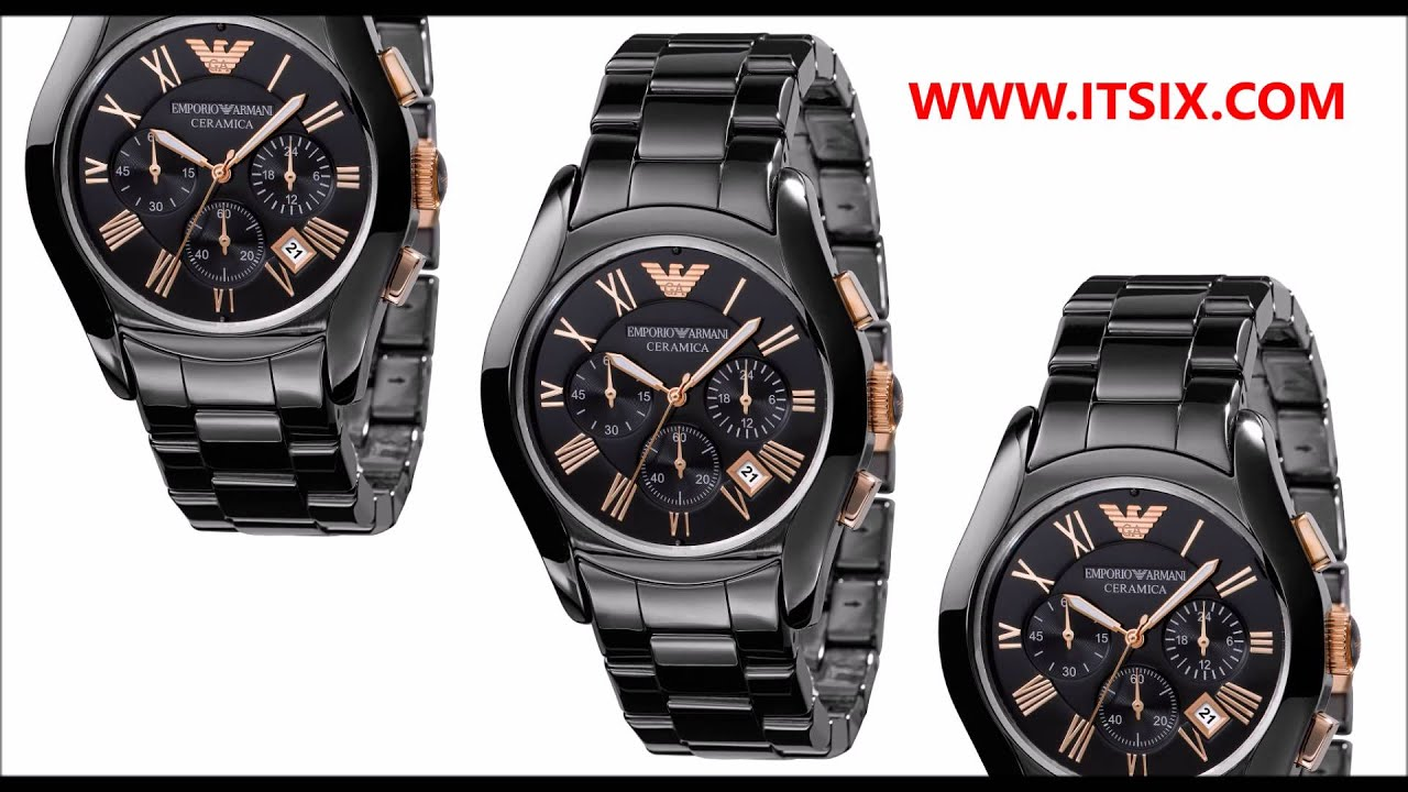 f4338664267 Relógio Empório Armani AR1410 Ceramica - YouTube