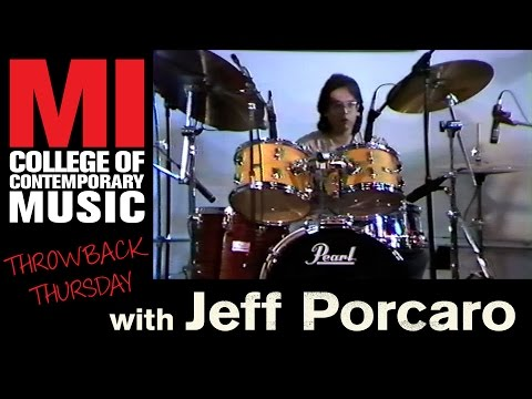 Jeff Porcaro Throwback Thursday from the MI Vault