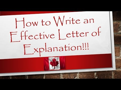 Letter of Explanation Format | Canada Immigration