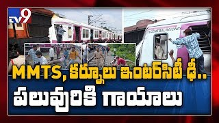 12 injured as MMTS train and Kurnool express collide in Hyderabad