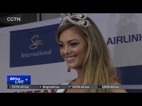 South Africa's Miss Universe gets rousing reception back home