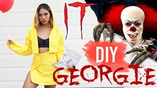DIY GEORGIE (IT MOVIE) HALLOWEEN COSTUME FOR GIRLS! | DIY | Nava Rose