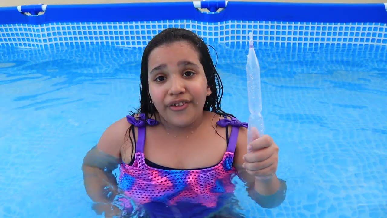 شفا و قواعد سلوك في المسبح Shfa learns the rule of conduct in pool