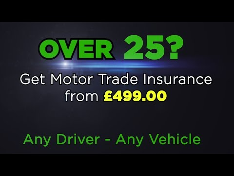Motor Trade Insurance for over 25s