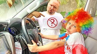 Алиса играет с папой не по правилам / Alice doesn't want to play by the rules with dad