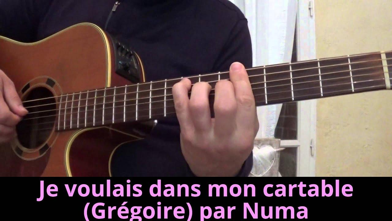 Je voulais dans mon cartable gr goire pierre ruaud guitar cover reprise - Je campe dans mon jardin ...