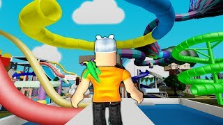 ROBLOX: I WENT TO THE WORLD OF WATER SLIDES! -Play Old man