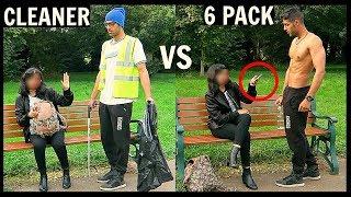 CLEANER vs 6 PACK Picking Up Girls (SOCIAL EXPERIMENT) streaming