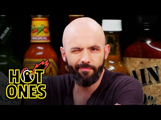 Binging with Babish Gets a Tattoo While Eating Spicy Wings   Hot Ones