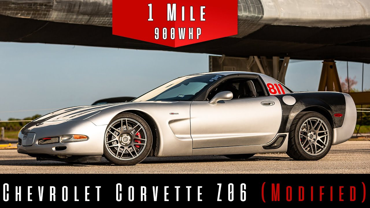 2002 Chevrolet Corvette Z06 (Modified) | Standing Mile Top Speed Test