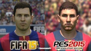 FIFA 15 vs PES 2015 FC BARCELONA Face Comparison