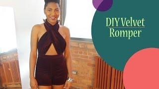 Diy: How To Make A Romper Easy (velvet)