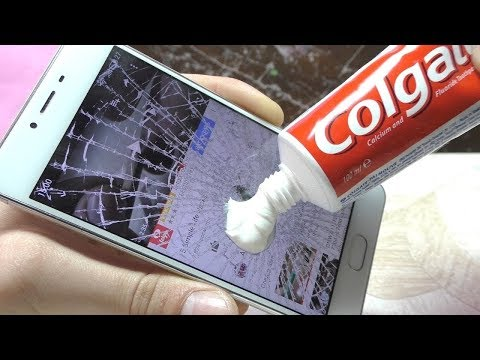 how to clean touch mobile lcd Scratches with toothpaste 100% sure you can apply this formula
