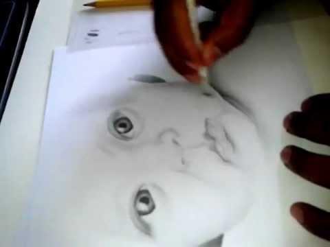 Retrato a lapiz bebe  YouTube