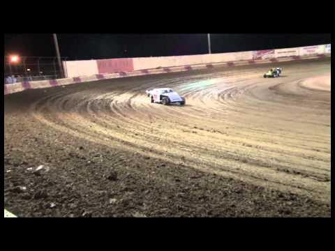 VICTORVILLE 10-30-10 Unhappy Driver pushes security in the chest -SPORT MODS MAIN EVENT