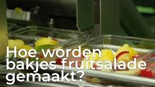 Doen ze dat zo: Hoe maken ze bakjes fruitsalade | Het Klokhuis
